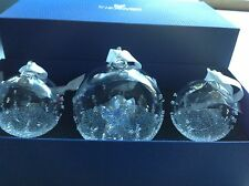 Swarovski Crystal 2015 1st ANNUAL EDITION CHRISTMAS BALL ORNAMENT set (X-MAS)