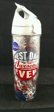 Bed Bath & Beyond Tervis 24oz Water bottle BEST DAD EVER 100% AWESOME  Wrap