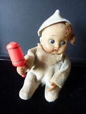 Vintage Muñeca Bebé automatizado desde década de 1950 (necesita Reparación)