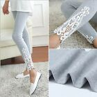 Fashion Women's Sexy Lace Stretchy Skinny Cotton High Waist Leggings Pants