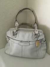 Coach Penelope White Pebbled Leather Satchel Shoulder Purse Handbag  13169