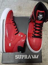 SUPRA VAIDER RED BLACK WHITE KIDS SHOES SIZE US 5 UK 4 EU 37 NEW IN BOX