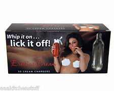"200  Erotica ""Whip it on...""  8g N2O Whipped Cream Chargers N20 4 boxes of 50"