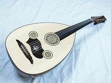 NOS :: TURKISH  STRING INSTRUMENT SIPO  WOOD OUD WITH SOFTCASE  NEW !