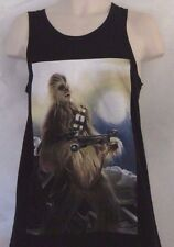STAR WARS Chewbacca in Battle Action Pose Shooting Sleeveless Small Men's