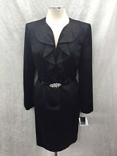 KASPER SKIRT SUIT/NEW WITH TAG/SIZE 10/BLACK/RETAIL$249/