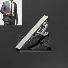 Stylish Simple Silver Tone Men Metal Necktie Tie Bar Clasp Clip Clamp Pin