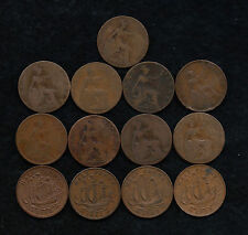 LOT OF GREAT BRITAIN HALF PENNY COINS (1903-1964)  13 TOTAL COINS