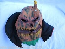 Scary Pumpkin Halloween Mask (Adult Size) Full Face Mask (Used) Pre Owned