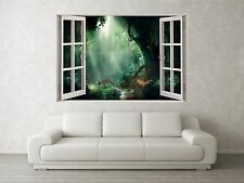 Forest Scene 1 3D Full Colour Window Home Wall Art Stickers Mural Decal