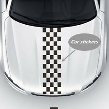 120x24cm Racing Chequered Flag Styling Decal Vinyl Car Auto Hood Stickers