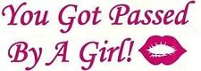 you got passed by a girl lips kiss pink girls car sticker vinyl graphics mini vw