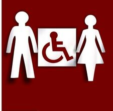 Pack of Ladies, Gents and Disable Toilet signs *Unique Acrylic Mirror Designs*
