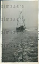 1933 NY Fishing Schooner E. S. Dickerson Being Towed Press Photo