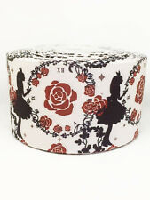 1 Yard Silhouette  grosgrain ribbon - 75mm 3 inch wide - ideal for crafts