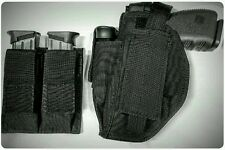 Tactical Holster W/ Extra Mag Holder and Dual Magazine pouch for Glock 19 22 26
