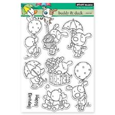 PENNY BLACK RUBBER STAMPS CLEAR BUDDY & DUCK NEW STAMP SET 2016
