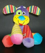 Lamaze Puppy Dog Plush Stuffed Animal Squeaks Baby Developmental Toy Vivid Color