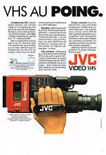 PUBLICITE ADVERTISING  1985   JVC  caméra vidéo