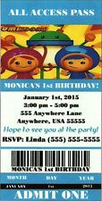 """Team Umizoomi Themed - Birthday Party Invitations - Customized for YOU  - 3""""x6"""""""