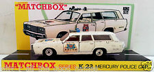 Lesney MATCHBOX King Size K-23 MERCURY POLICE CAR Diecast Model & Custom Base [b