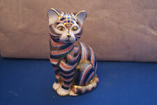 IMARI CAT PAPERWEIGHT WITH GOLD STOPPER ROYAL CROWN DERBY