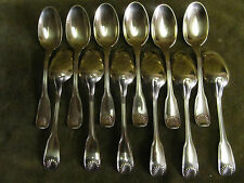 French gilded sterling silver tea / coffee spoons (12) Puiforcat shells 221gr