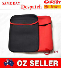 "New 15 15.4 15.6 15""  inch Laptop Sleeve Carry Case Pouch COVER Black Red"