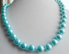 """8mm fine bule South Sea Shell Pearl Necklace 18"""" YL"""