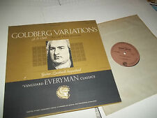 Vanguard SRV-175SD Gustav LEONHARDT harpsichord BACH Goldberg Variations LP NM