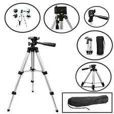 "UNIVERSAL 50"" PORTABLE CAMERA TRIPOD STAND WITH CARRY CASE 360-DEGREE ROTATION"
