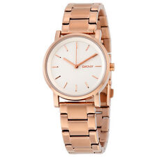 DKNY Soho White Dial Rose Gold-tone Ladies Watch NY2344