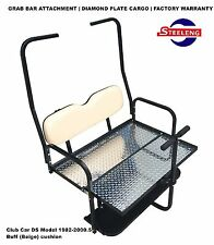 Rear Flip Seat Kit for Club Car Golf Cart DS Model (1982-2000/Buff) w/t Grab Bar
