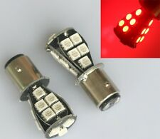2x Red CANBUS 1157 BAY15D 18 LED 5050 SMD P21/5W Brake Tail Light Bulb DC 12V