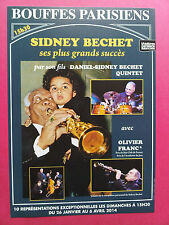 SIDNEY BECHET - PARIS CONCERT FLYER - COLLECTOR