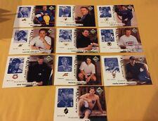 1998 UD Collectors Choice A Day In Your Life Swedish 10 Card Hockey Set Nr/Mt