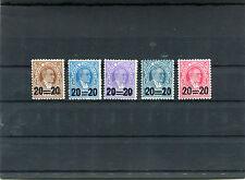 TURCHIA-TURKEY 1959 serie segnatasse soprastampati con nuovo valore 1428-32 MNH
