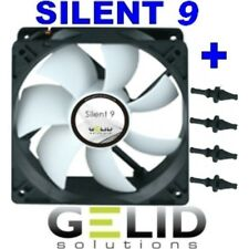 VENTILATORE per CASE PC 92mm GELID SILENT 9 FAN 90 x 90x25 + GOMMINI 1500rpm 12V