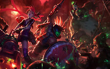 Poster A3 League Of Legends Pantheon Jinx Nunu Zombie LOL