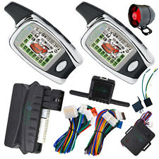 auto guard car alarm with remote start stop engine LCD 2 way alarm remote