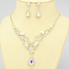 A B  CRYSTAL  COLLAR CRYSTAL/  RHINESTONE  NECKLACE AND   EARRING SET X8