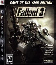 Fallout 3 -- Game of the Year Edition (Sony PlayStation 3, 2009) Complete PS3