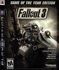 PLAYSTATION 3 FALLOUT 3 GAME OF THE YEAR EDITION BRAND NEW PS3 GREATEST HITS