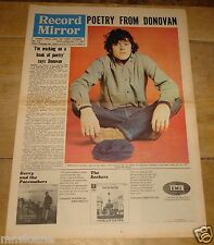 RECORD MIRROR 19 JUNE 1965 DONOVAN THE HOLLIES THE KINKS SEEKERS MOODY BLUES