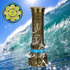 100m Underwater Rechargeable 18000Lm SCUBA Dive 9*CREE XML2 LED Flashlight Torch