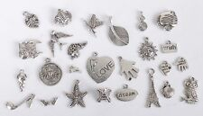 52PCS Mixed Lots of Antiqued Silver Metal Charms Jewelry Findings #24313