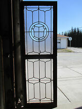 ~ ANTIQUE AMERICAN STAINED GLASS WINDOWS TOP AND BOTTOM ~ ARCHITECTURAL SALVAGE