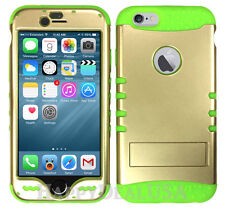 Light GOLD Armor Shock Proof Hybrid Soft Hard Cover Case for Apple Phone iPod