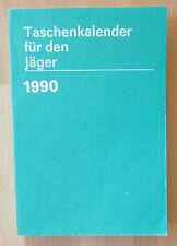 DDR Taschenkalender Jäger 1990 Wild Strassenverkehr Schießsport-Anlagen Krähen