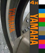 4x Yamaha Yzf R1 R6 Mt Fjr Fz Fj Fz6 Rueda Llanta Sticker Decal Motocicleta Vinilo